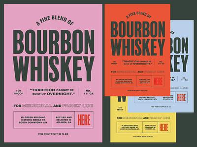 Whiskey Merch Concept merchandise design merchandise packaging package design whiskey label label design vintage typography design branding