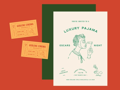 Oscars Invite Design