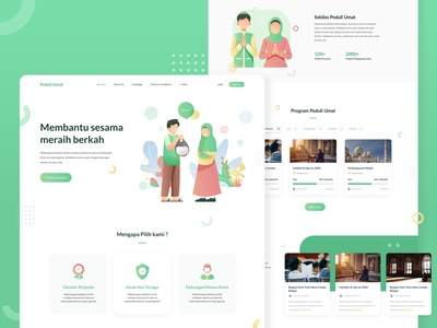 Crowdfunding Landing Page concept financial fundraising startup project crowd people money funding finance investment crowdfunding illustration ux uiux ui landing page ui website landing page web