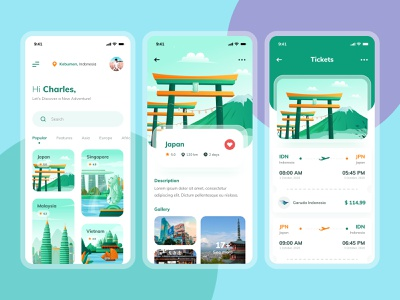 Travel App Design destination flight ticket service ui ux adventure vacation clean holiday illustration ui design app design mobile ui app mobile app design mobile design travel app travel tourism tours