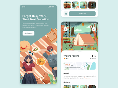 Travel app illustration service guide holiday journey traveler flight destination tourist booking explore ui travel agency travelling flat colorful clean illustration staycation vacation travel