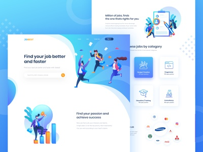 PSD Freebie - Homepage design for job portal site job portal job vacancy job illustration freebie psd freebie landing page homepage