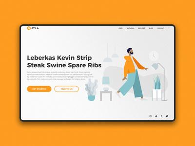 Atila Landing Page Design