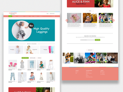 Alice And Finn Ecommerce Homepage
