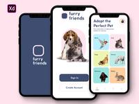 Pet Adoption App ( XD daily creative challenge)