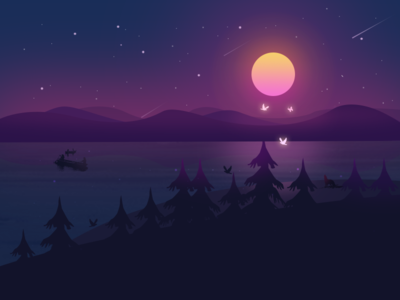 夜晚的宁静