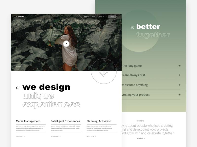 Agency Site typography clean concept ui web minimal design