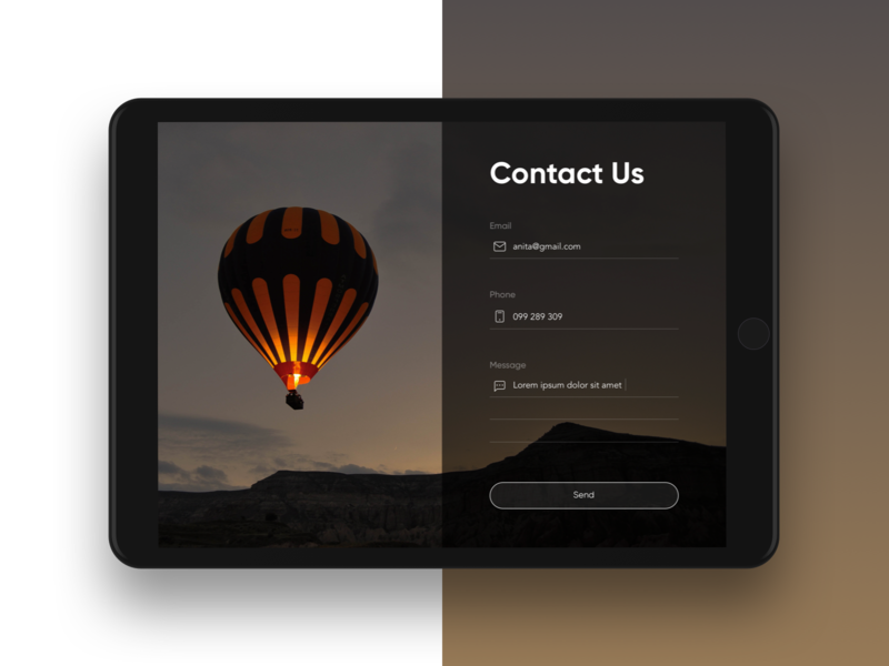 Contact Form designer landing contact form contact form minimal graphic web design