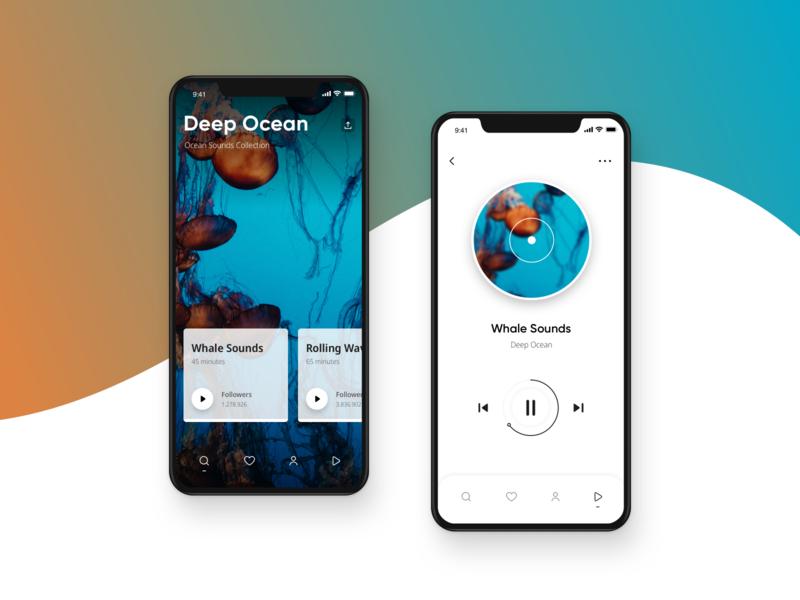 Music App app design app designer design clean minimal music app music player gradient music