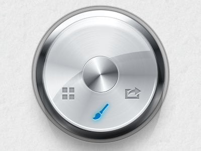 Mode Switching Knob opacity.app knob metal glass reflexion button rotation ui mode
