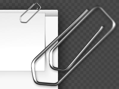 Paper Clip opacity.app vectorial clip paper metal reflexion ui goodtimes