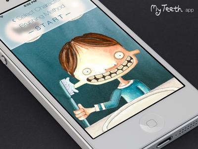 Linus on MyTeeth myteeth drawing illustration ios ios7 children