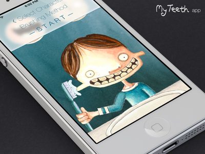 Linus on MyTeeth myteeth drawing illustration ios ios7 children
