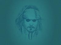 Line Portrait - Jack Sparrow