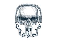 Skull Music Line