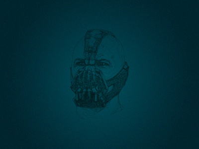 Line Portrait - Bane scribbled illustration batman bane movie line portrait