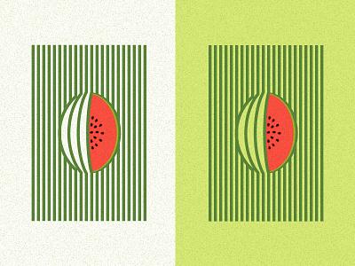 Minimalist Watermelon home decor wall minimalist abstract pattern line fruits tropical watermelon