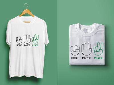 Rock Paper Peace t-shirt fingers illustration line peace rock scissors hand
