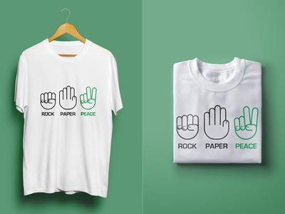 Rock Paper Peace t-shirt fingers illustration line peace rock scissors hand