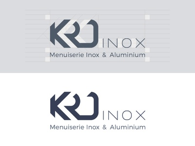 KRD Inox Brand Identity / Logo Design inox minimalist logos minimalistic logo design flat logotype corporate identity branding brand identity