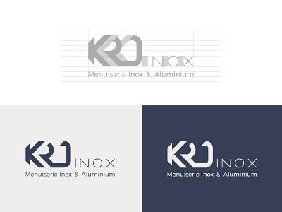 KRD Inox Logo Design, Brand Identity metal inox logo mark construction brand identity branding project logo