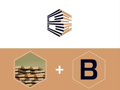 Brand Identity BenMarzougui mark logo lines guidelines design construction brandmark identidadevisual