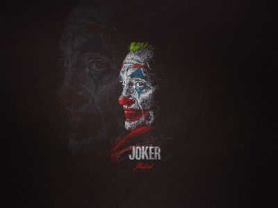 Scribbleart Portraits Joker portraits line digitalart art scribble