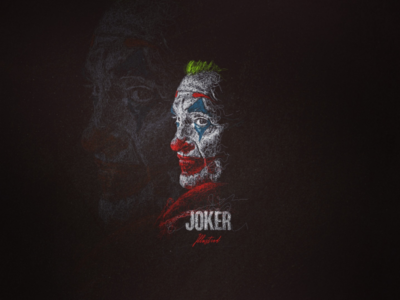 Scribbleart Portraits Joker portraits line digitalart art scribble