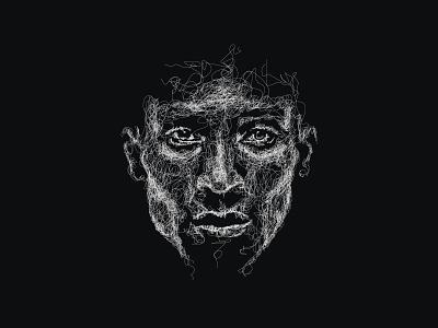 Scribbled Lines Portraits inktober illustration black  white face lineart artwork portrait scribble