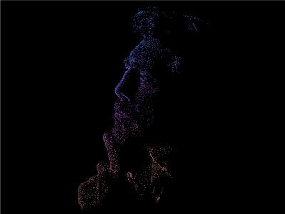 DOTWORK PORTRAIT inktober movie artwork portrait art vector pointillism illustration dotwork
