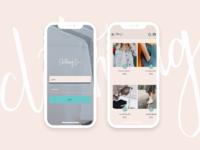Mobile UI for Shopping App using Material Design
