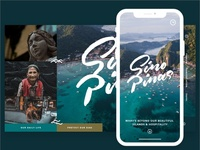SINO PINAS Web/Mobile design for Philippine Travel Blog