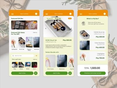Wrap-A-Surprise Mobile UI Showcase