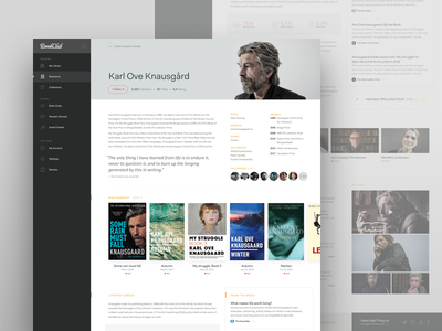 Bookclub Concept website web ux ui responsive layout dashboard clean book club books profile