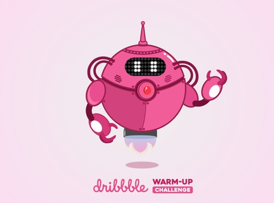 Pinkbot - Dribbble Warm-Up #1