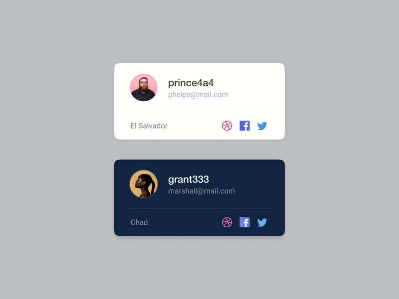 Social Profile Card