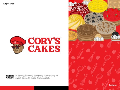 Cory Cakes identity branding icon vector design cartoon logo illustration brand