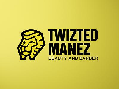 Twizted Manez Logo ux ui icon typography vector mascot design logo illustration brand