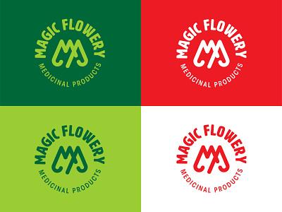Magic Flowery M.P. Icon Set web icon medical marijuana ux ui branding design typography vector logo illustration brand