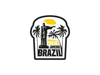 Rio De Janeiro typography brand logo