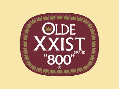 Olde XXIST Brand Malt identity brand trademark logo vintage