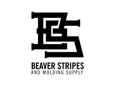 Beaver Stripes Monogram Logo