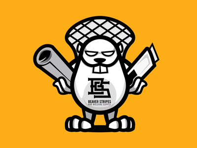 Beaver Stripes Mascot re-design
