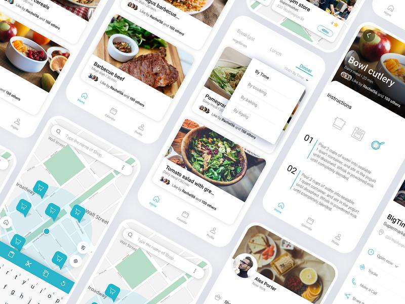 3 meals -  food App UI Screens