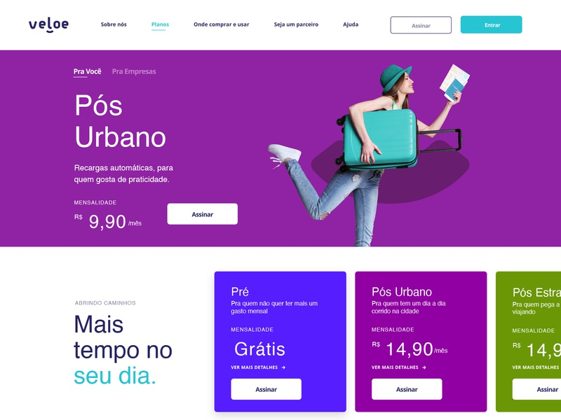 Veloe Homepage colors ux car configuration branding app website web interface ui minimal flat design