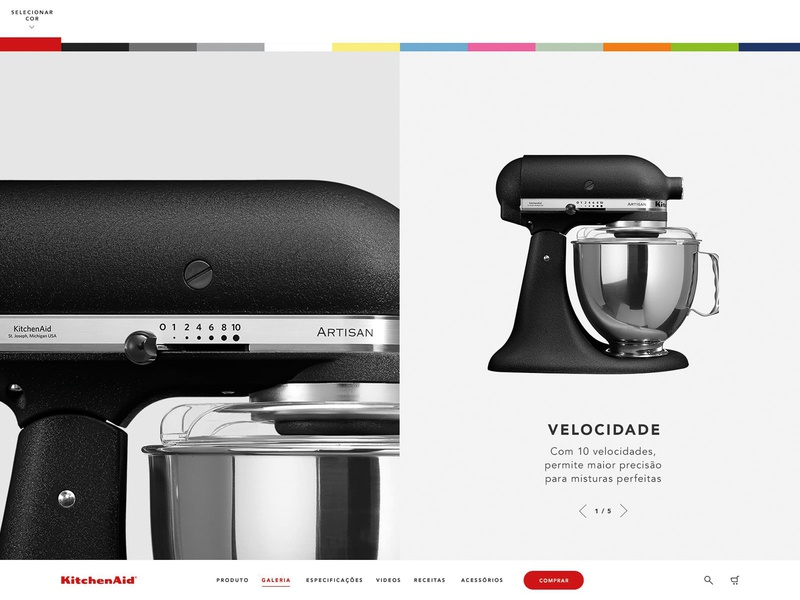 KAD product cooking gallery colors ux website web interface ui minimal flat design