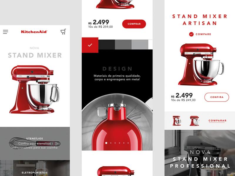 KAD mobile responsive mobile colors ux app website web interface ui minimal flat design
