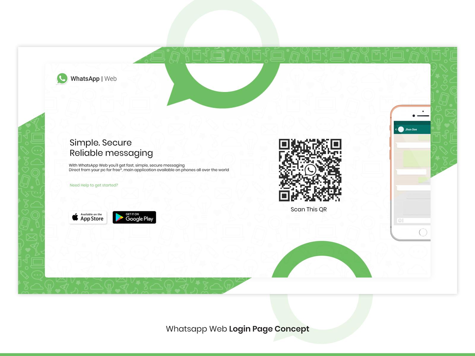Whatsapp Web Login Page Concept By Tanzim Chowdhury Dribbble