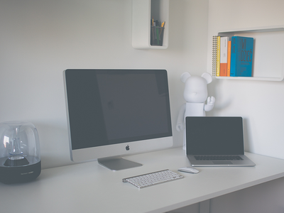 2014 workspace [free photos!] stock free psd workspace desk bearbrick imac setup