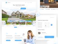 x real estate search landing page